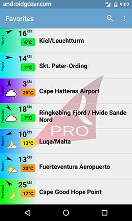 Windfinder Pro 3.2.0 اطلاعات باد، امواج و آب و هوای جهان