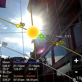 Sun Surveyor (Sun & Moon) 2.3.3 دانلود نرم افزار موقعیت یابی خورشید و ماه