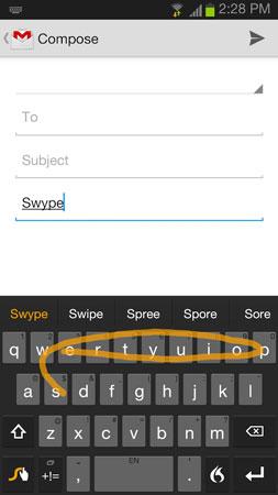 م کاشی نرم افزار Swype Keyboard Full 3.2.4.3020400.50699 دانلود صفحه کلید ...