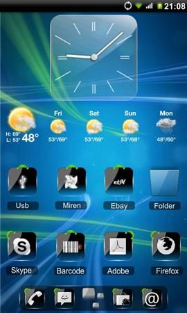 Theme Crystal Black Flat HD 6.7 دانلود مجموعه تم کریستال سیاه HD