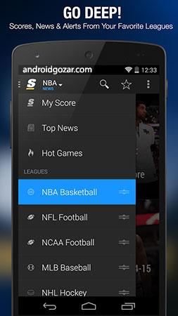 دانلود theScore 19.15.0 Mod – برنامه نتایج زنده مسابقات ورزشی اندروید