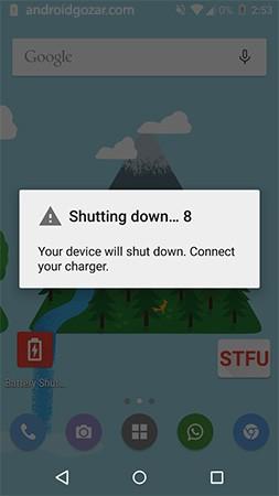 Battery Shutdown Manager Pro 1.0 اطلاع از زمان خاموش شدن دستگاه