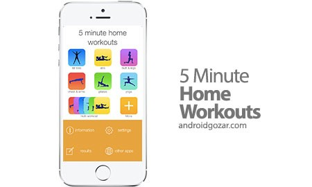 5 Minute Home Workouts Full 3.0.7 تمرینات ورزشی 5 دقیقه ای در خانه