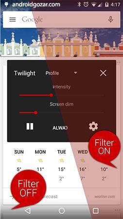 دانلود Twilight Pro 12.5 – برنامه محافظ چشم اندروید