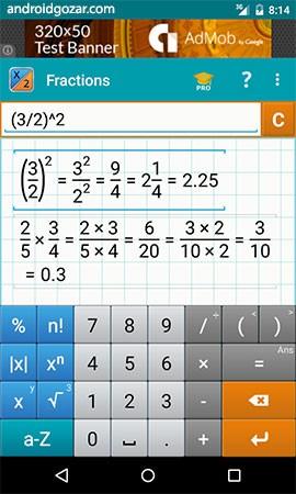 Fraction Calculator by Mathlab Pro 3.1.37 دانلود نرم افزار محاسبه کسر