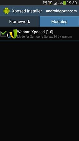 Wanam Xposed 4.0.1 دانلود نرم افزار سفارشی کردن رام های سامسونگ