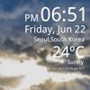 Weather Clock Live 1.7.4 دانلود نرم افزار بررسی وضعیت آب و هوا