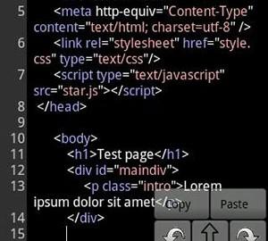 دانلود WebMaster's HTML Editor 1.6 ویرایشگر کدهای وب اندروید