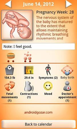 WomanLog Pregnancy Pro 2.2.2 دانلود نرم افزار تقویم بارداری زنان