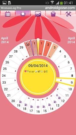 WomanLog Pro Calendar 5.6.21 دانلود تقویم قاعدگی و باروری زنان