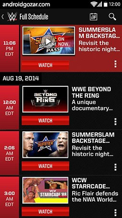 WWE 3.17.4 دانلود نرم افزار موبایل دبلیو دبلیو ای