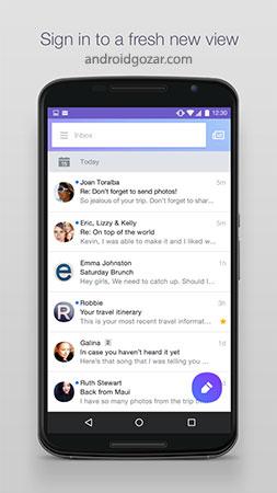 Yahoo Mail 5.38.3 دانلود نرم افزار ایمیل یاهو اندروید