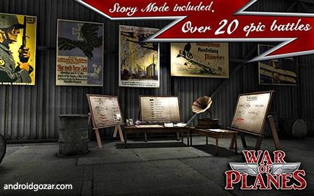 Sky Baron: War of Planes 3.15 دانلود بازی جنگ هواپیماها+دیتا+مود