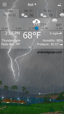 YoWindow Weather 2.10.1 دانلود نرم افزار وضعیت آب و هوا اندروید