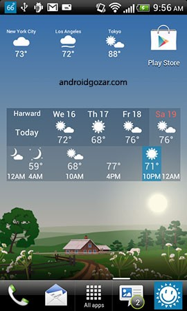 YoWindow Weather 2.11.16 دانلود نرم افزار وضعیت آب و هوا اندروید