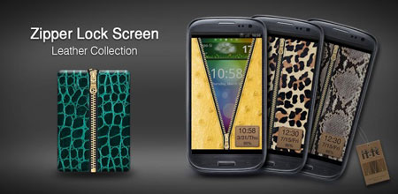 Zipper Lock Leather Collection 1.1 Download Application Lock Leather Screen